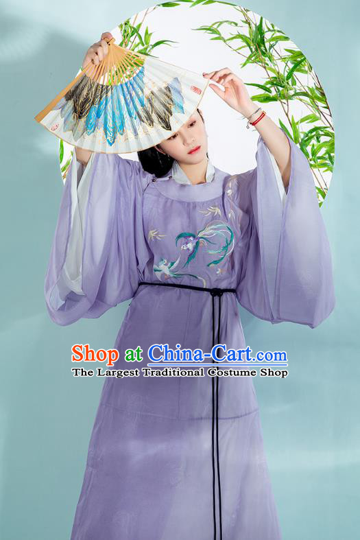 Chinese Traditional Song Dynasty Noble Childe Historical Costumes Ancient Swordsman Hanfu Robe Embroidered Garment for Men