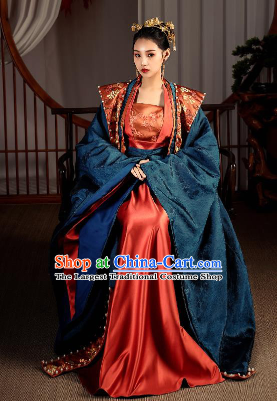 Chinese Traditional Song Dynasty Palace Empress Hanfu Dress Ancient Imperial Consort Garment Historical Costumes Complete Set
