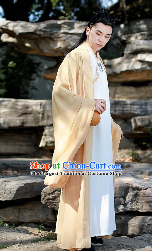 Chinese Traditional Jin Dynasty Scholar Hanfu Clothing Ancient Drama Swordsman Garment Historical Costumes for Men