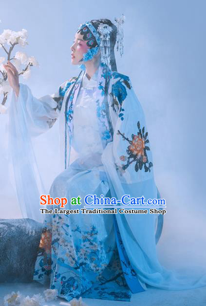Chinese Traditional Beijing Opera Hanfu Apparels Ancient Nobility Lady Dress Ming Dynasty Patrician Female Historical Costumes and Headdress Complete Set